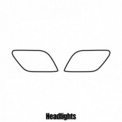 Chevrolet Orlando MPV - 2011 and newer - Headlight protection film