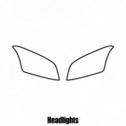 Chevrolet Trax SUV - 2013 and newer - Headlight protection film
