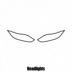 Nissan Qashqai - 2014 and newer - Headlight protection film