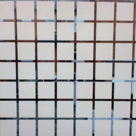 Large Squares Decorative Window Film 1m X 1m Roll