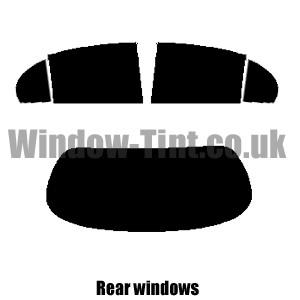 PSSC Pre Cut Front Car Window Films for Jaguar S-Type 1999 to 2008 20/% Dark Tint
