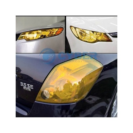 Yellow Headlight Tinting Film - 60cm x 30cm roll