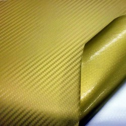 Gold Carbon Fibre Vinyl Wrap