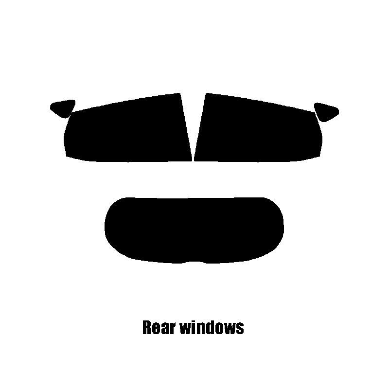 5/% Limo MK8 2017 and newer Ford Fiesta 5-door Pre cut window tint - Rear windows