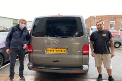 VW Transporter in 5% limo tint