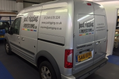 Van signage for Just Rigging