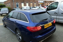Mercedes C-Class Estate tinted in 20% dark smoke