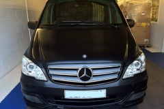 Mercdes Vito van bonnet wrapped in carbon fibre