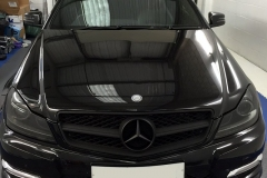 Mercedes C-Class front lights tinted