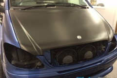 Mercedes Vito bonnet wrapped in carbon fibre