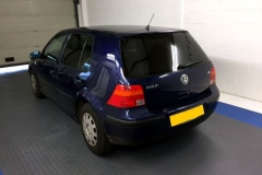VW Golf 20% dark smoke window tint