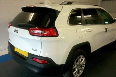 Vehicle tinted for Jeep garage in 5% limo tint