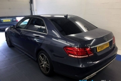 Mercedes E-Class tinted in 5% limo tint