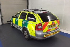 Skoda Octavia tinted in 5% limo black for ambulance service