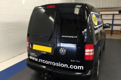 VW Caddy Van tinted in 5% limo tint