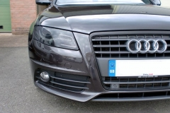 Audi A4 front grill surround wrapped in matt black