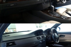 BMW dashboard wrapped in carbon fibre