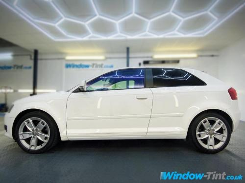 5% limo on rear and chameleon tint on front windows